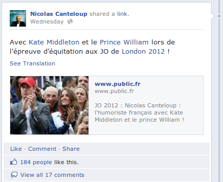 Personnal Branling Canteloup Facebook